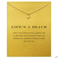 Wholesale star jewellery online - Starfish Pendant Necklaces Gold Silver Colors Sea Star Alloy Pendants With Gift Card Women Necklaces Fashion Jewellery