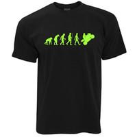 ingrosso motocicletta ad alta velocità-Moto T Shirt Neon Green Evoluzione di un Motociclista Rider ad alta velocità Estate Vendita calda Nuovo Tee Print Uomo T-Shirt Top di alta qualità
