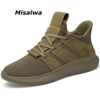 sapatas do elevador da forma venda por atacado-Misalwa 6 cm aumento da altura invisível elevador sapatos homens casuais sapatilhas moda confortável homens sapatos khaki preto 37-44 ao ar livre