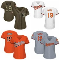 e1ff653f5 Womens 19 Chris Davis Baltimore Jersey 100% Stitched Chris Davis Cool Base  Orioles Baseball Jerseys Custom any name any number