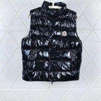 kalın yelek toptan satış-Erkekler Tasarımcı Ceket Yelekler Aşağı Ceket Kapüşonlu Aydınlık Su Geçirmez Erkekler Kadınlar Için Marka Giyim Rüzgarlık Lüks Hoodie Ceket Kalın Giyim
