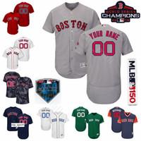 beyzbol formaları kırmızı toptan satış-Boston Beyzbol Red Sox 16 Andrew Benintendi Formalar 50 Mookie Bahisleri 28 JD Martinez 11 Rafael Devers 19 Jackie Bradley Jr. Özel Ad
