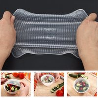 4pcs set Reusable Silicone Food Wraps Silicone Stretch Lids Fresh Silicone Cling Film Seal Cover Kitchen Tool