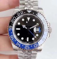 relógio jubileu venda por atacado-Novo GMT Cerâmica Bezel Mens Mecânico SS Movimento Automático relógio de grife Esportes de Luxo Auto-vento Jubilee mestre Relógios Relógios De Pulso btime