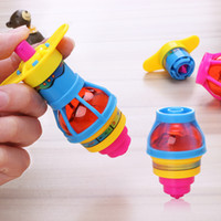Wholesale spiral gyro toy resale online - New Designs Children Glitter Spinning Gyro Spiral Spring Toy Colorful Gyro Catapult Belt Launcher L113