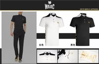Wholesale golf t shirts for sale - Group buy W Men Sportswear Short sleeve WAAC Golf T shirt Golf clothes S XXL in choice Leisure shirt
