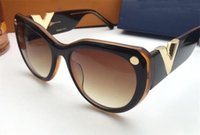 Wholesale eyewear frames butterfly style for sale - New fashion designer sunglasses cat frame simple popular style uv400 protection eyewear top quality