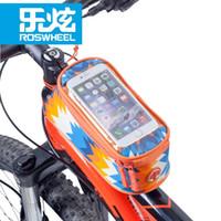 Wholesale waterproof phone holder online – New Roswheel Waterproof Cycling Bike Bag Front Phone Bag Case Holder Bicycle Handlebar Pannier Size M L