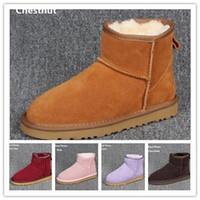 winter-stil schuhe frauen großhandel-Heiße Verkäufe Designer klassischen australischen Stil Schneeschuhe Frauen zurück Winter Pelz Leder Stiefeletten Luxus Schuhe Marke IVG Plus Größe EU34-44