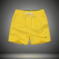 xxl traje de baño al por mayor-2018 Wholesale-Summer Men Short Pants Swimwear Nylon Men Brand Beach Shorts Small horse Swim Wear Board Shorts M-XXL