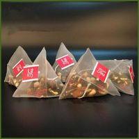 naylon depo toptan satış-500 adet / grup Çay Filtresi Çanta Naylon Etiketi Ile Boş Tek Kullanımlık Teabags Çay Demlik Süzgeç Çanta Temizle saklama çantası 5.8 * 7 CM FFA1445