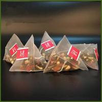 bolsas de almacenamiento de té al por mayor-500 unids / lote Bolsas de Filtro de Té de Nylon Con Etiqueta Bolsas de Té Desechables Té Infusor Colador Bolsa Bolsa de almacenamiento transparente 5.8 * 7 CM FFA1445
