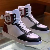 ingrosso pelle ambra-Rivoli Sneaker Boot Bianco e Amber Colour Sole Uomo Luxury Shoes Shoes High-Top Sneaker in pelle con cinturino con dimensioni box 38-45 z14
