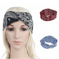 d61ce5368bc5d 6 colors Bohemian Hairband printed Elastic Cotton Headband men women  outdoor running hair bands fashion hair accessories