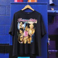 camisetas de nylon para hombre al por mayor-Vintage Lauryn Hill Shirt Rap Tee 90s Camisetas de algodón sueltas para hombres Cool Tops para hombre 100% algodón más el tamaño J190612