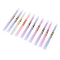 Wholesale pastel stationery for sale - Group buy 10pcs set soft pastel ended highlighter pen Fluorescent pen kawaii Mild liner DIY School supplies Office Stationery