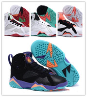 ingrosso scarpe da basket 28-NIKE AIR JORDAN RETRO shoes Scarpe da ginnastica per bambini calde Scarpe da basket per bambini 7 VII VII Scarpe da pallacanestro per ragazzi Atletica da bambino 28-35