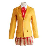 Wholesale gakuen cosplay online - Kangoku Gakuen Cosplay Costumes Midorikawa Hana School Uniform Cosplay Costumes Halloween Prison School Cosplay Costumes Coat Skirt Ribbon