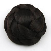 искусственный парик оптовых-Стайлинг плетение естественный клип расширение женщин парик волос булочка нож легкий дышащий удобная одежда искусственные противоскользящие