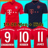 Wholesale soccer kit jersey uniforms for sale - Group buy Bayern Munich JAMES munchen Soccer jersey LEWANDOWSKI MULLER KIMMICH HUMMELS Football shirt kit uniforms away third
