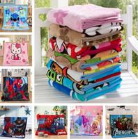 erkekler için battaniyeler toptan satış-Sıcak Çocuklar Battaniye Flanel örümcek-adam Trolls Sıcak karikatür Battaniye Pürüzsüz Flanel Battaniye Bebek Yatak Kundaklama Battaniye 100 * 140 cm