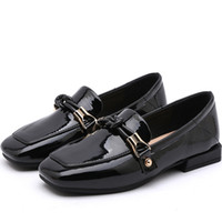ingrosso bambini di mocassini neri-2019 Spring New Fashion Baby Girls Pu Leather Black Shoes Children Princess Flats Kids Sweet Soft Party Moccasin