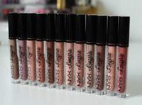 dessous nackt farben großhandel-Marke NYX Dessous flüssig matt Lippenstift wasserdicht nackt Lipgloss Make-up Kosmetik Party Geschenk 12 Farben Dropshipping Auf Lager