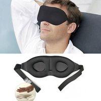 couvre coussinets de mousse achat en gros de-Couvercle d'ombrage rembourré en mousse viscoélastique avec cache-œil 3D pour les yeux en éponge pour le sommeil