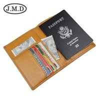 escudo de dinero al por mayor-Clips J.M.D de piel Documento Baotou Capa de mantequilla de cartón bolsa de pasaporte RFID paquete de blindaje Money 8190