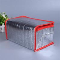 bolsas de agua de aluminio al por mayor-Enfriador de papel de aluminio Raya portátil A prueba de agua Paquete de compresas frías Bolsa de aislamiento térmico Bolsa de hielo con cremallera con aislamiento 2 8zyC1