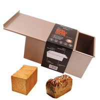 kutu hamur işleri toptan satış-Araçlar Dekorasyon Dikdörtgen Büyük Tost Ekmeği Kalıp Kutusu ile Kapak İçin Çocuk Doğum Günü Pastası Pişirme Pasta Tatlı Kalıp