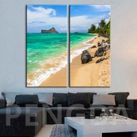 Wholesale wall poster background for sale - Group buy Canvas Pictures Wall Art Print Paintings Beach Stone Landscape Modern Home Decoraton Poster Frame Modular For Bedside Background