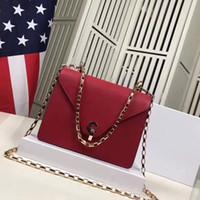 çanta çantası kırmızı toptan satış-2019 marka moda çanta tasarımcısı lüks çanta cüzdan kadın cüzdan hakiki deri çanta yeni varış crossbody kaliteli kırmızı çanta