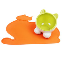 Wholesale colorful pet beds resale online - Cute Colorful Silicone Cloud Pet Pads Supplies Pet Dog Puppy Cat Feeding Mat Pad PVC Bed Dish Bowl Water Feed Placemat