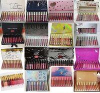 Wholesale newest lipsticks resale online - Newest Makeup High quality Color set Matte Lip gloss Waterproof Lasting Lipstick DHL