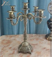 Wholesale bronze candles for sale - Group buy Bronze Candle Holder arms Shiny Plated Candelabra Romantic And Luxury Metal For Wedding Events Or Party Decor SH190924
