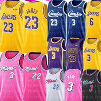 jersey anthony venda por atacado-LeBron James 23 Anthony 3 Davis Jersey NCAA Dwyane Wade 3 Jimmy 22 Butler Jersey Universidade Crenshaw Basketball Jerseys
