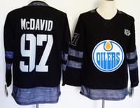 eishockey-trikots logos großhandel-Neu Herren Trikot 97 Connor McDavid 93 Ryan Nugent-Hopkins 99 Wayne Gretzky 27 Milan Lucic Stickerei Logos Hockey Trikots