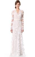 Wholesale color inspired wedding dresses resale online - Retro Style Vintage Inspired Lace Wedding Dress Long Sleeves robe de mariée vintage wedding dresses BBG037