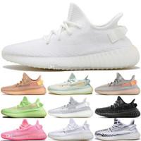 lueur sombre chaussures vente achat en gros de-Vente chaude Kanye West Clay V2 Statique Réfléchissant GID Lueur Dans La Sombre Hommes Chaussures De Course Hyperspace True Forme Femmes Hommes Sport Designer Sneakers