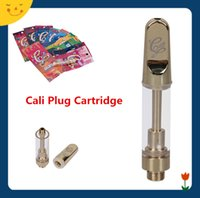 ingrosso vaporizzatore a spina-Cali Plug Cartridge 1.0ml with 11Flavors Retail Package 1g 1gram Ceramic Coil Empty Vape Carrelli Gold Color Thick Oil Vaporizzatore Ecigs