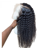 Wholesale brown wave hair resale online - Malaysian Curly Lace Wig Deep Wave Full Lace Human Hair Wigs With Baby Hair Factory Price Lace Wigs Deep Wave