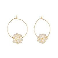 perlen perlen ohrringe großhandel-Natürliche Süßwasserperlen Ohrringe Mini Ball Perlen Ohrring für Frauen Korean Female Handmade diy Hochzeit Schmuck