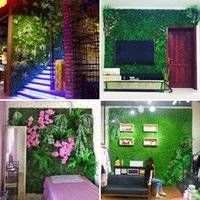 Wholesale grass for wall decoration resale online - 40x60cm Grass Mat Green Artificial Plant Lawns Landscape Carpet for Home Garden moss Wall Decoration Party Wedding Supply