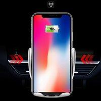 ingrosso porta lg-2019 Nuovo S5 Caricabatteria da auto senza fili automatico per iphone Android Air Vent Supporto del telefono Rotazione di 360 gradi 10W Ricarica rapida con scatola