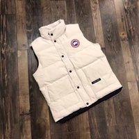 ingrosso grandi giacche di marca-2019 Canada Marca Mens Gilet Canada importati piumino d'oca piumino d'oca maschile breve sezione Slim maglia vest donne spesse coppie calde