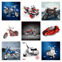 Technic 91025 20032 7046 7067 03019 701702 Off-road vehicle Motorcycle blocks Building Blocks Motorbike Christmas Gift Toys 10269
