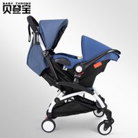 Wholesale function safety online - Multi function Folding Baby Stroller Plus Separate Safety Car Seat in Stroller Suspension Portable Bidirectional