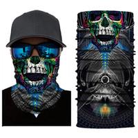 Wholesale bike head mask for sale - Group buy Head Scarf Windproof MTB Bike Cycling Face Mask UV Protection Hiking Ski Fishing Mask Scarf Bandana Headwear Halloween skull G