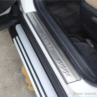 rav toyota al por mayor-Estilo de coche para Toyota RAV4 RAV 4 2013 2014 2015 2016 2017 Acero inoxidable Protector de umbral exterior de puerta Cubierta de placa de desgaste del pedal 4 piezas